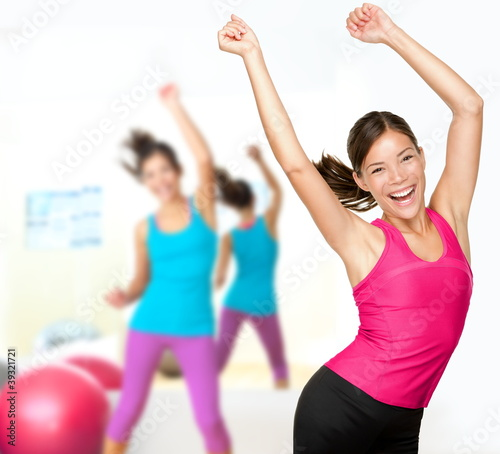 Fitness dance zumba class #39321721