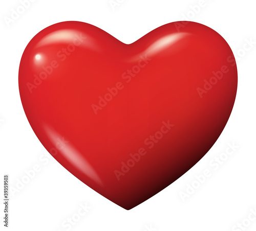 Perfect red heart vector isolated Fototapet