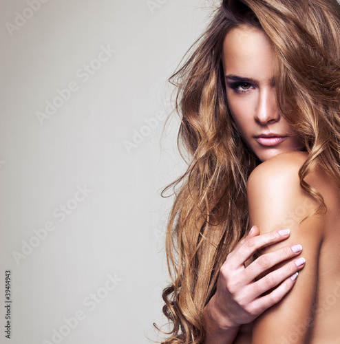 portrait of a beautiful delicate woman