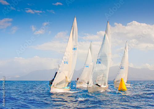 J24 Sailing Regatta in Greece Fototapeta