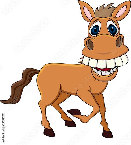 Fotografie, Obraz Smiling horse cartoon