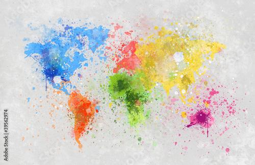 Fototapeta premium malowanie map świata