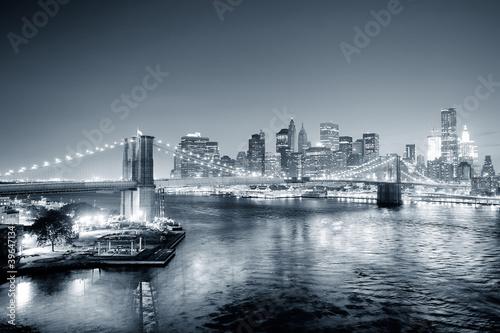Naklejki na meble Nowy Jork i czarny i biały Manhattan