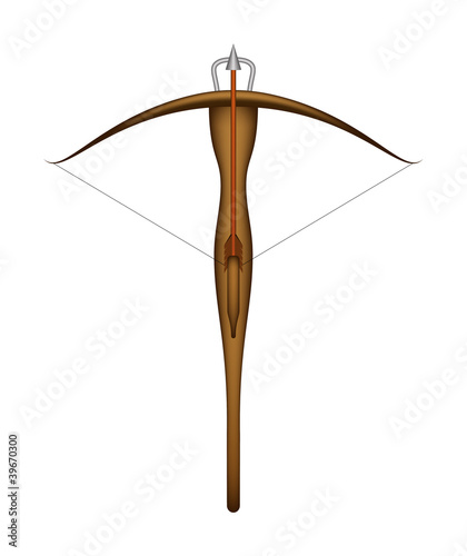 Stampa su Tela Wooden crossbow and arrow