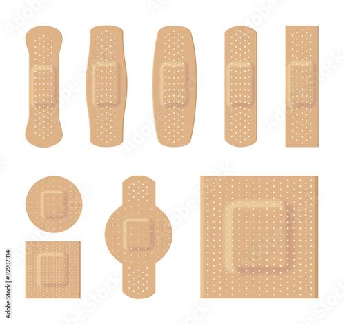 Fotografie, Tablou Bandages various sizes body color