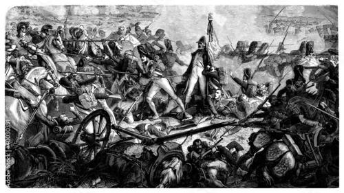 Photo Napoleonian Battle - beginning 19th