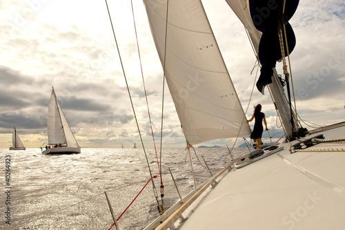 Yacht regatta Fototapeta