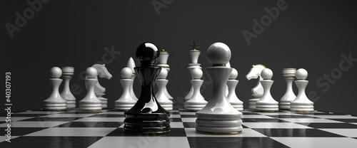 Black vs wihte chess pawn background