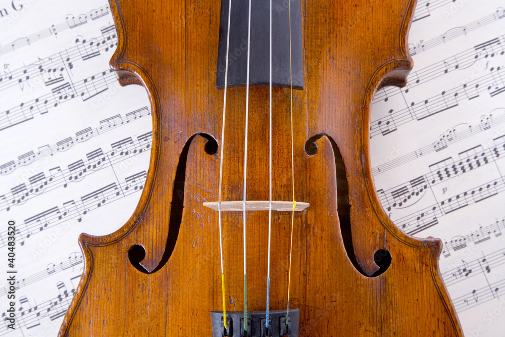 Obraz skrzypce fototapeta, plakat