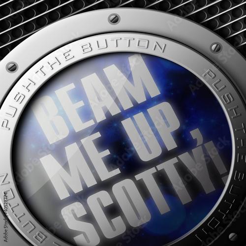 Beam me up Fototapeta