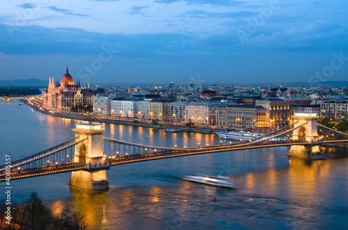 Fototapeta premium Budapeszt, Cityscape Nocą