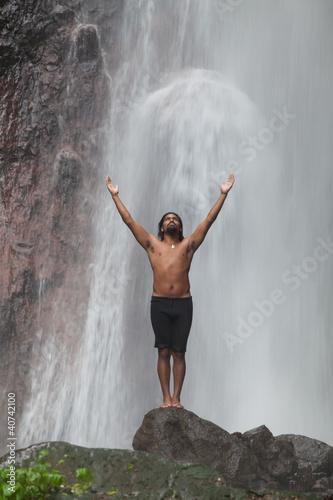 Wallpaper Mural Waterfall feeling