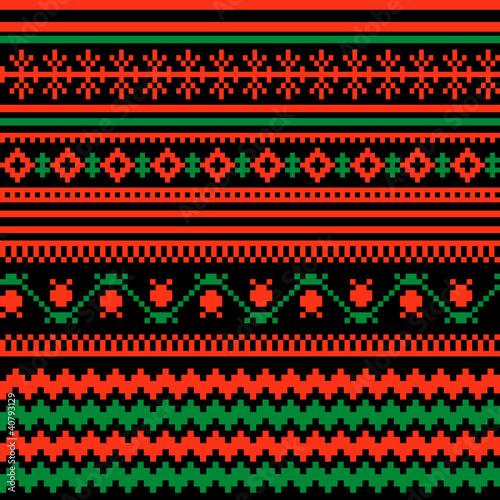 Textile ornamental pattern