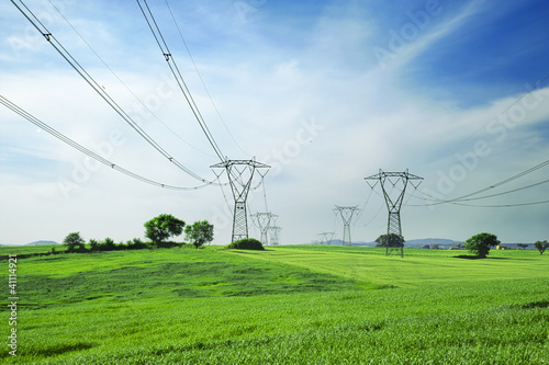 Photo energy and high voltage powerline