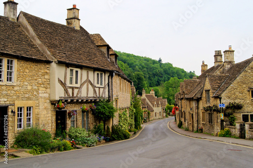 Fotografie, Tablou Quaint town of Castle Combe in the Cotswolds of England