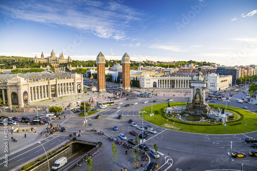 view of the center of Barcelona. Spain