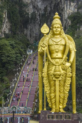 Huge Lord Muruga statue in Batu Caves. Malaysia, Kuala Lumpur