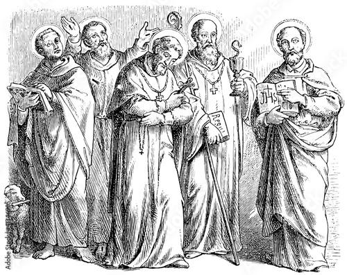 Photo Showing various Christian saints