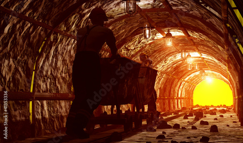 Canvas Print The mine.