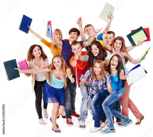 Group student with notebook. #41354983