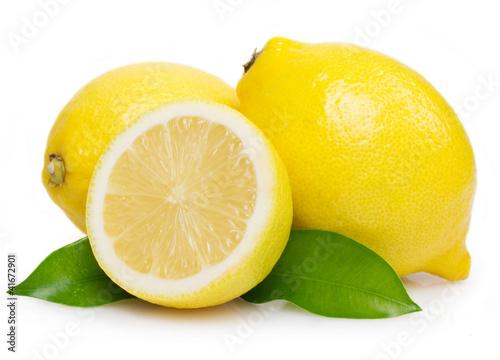 Fotografie, Obraz Fresh lemon with leaves