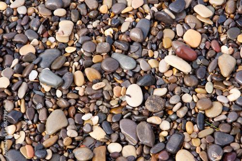 Fototapeta premium Kamyczki i kamienie, mokro, tekstura, tło