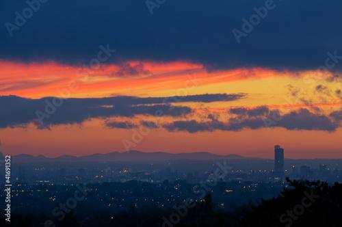 16- sunset Beetham tower manchester Fototapet