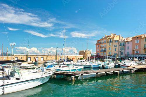Fotografia harbor view of Saint-Tropez, french riviera