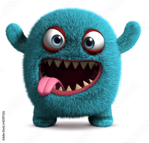 Photo cute furry monster