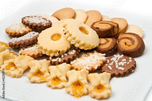 biscotti misti assortiti Fototapeta