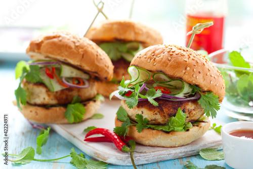 Thai chicken burger
