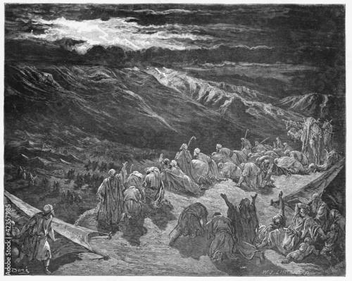 Obraz na płótnie The giving of the Law upon Mt. Sinai
