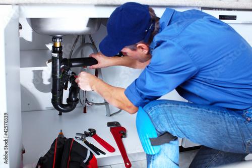 Professional plumber. Fototapeta