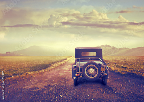 Naklejka premium Podróż w stylu vintage