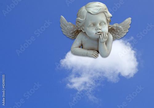Cuadros en Lienzo ange pensif sur nuage