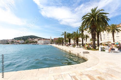 Obraz na płótnie Hafenpromenade, Split, Kroatien