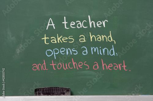 Obraz na plátně Inspirational phrase for teacher appreciation