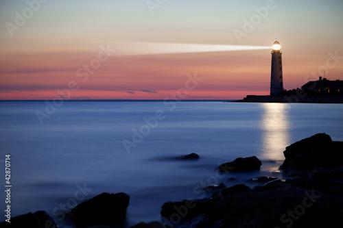 Canvas Print Lighthouse on the coast