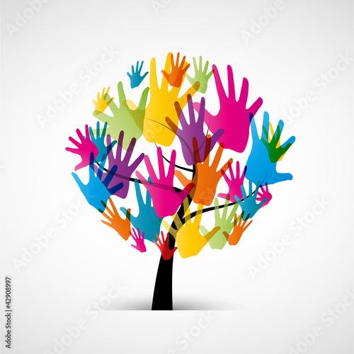 arbre/mains #42908997