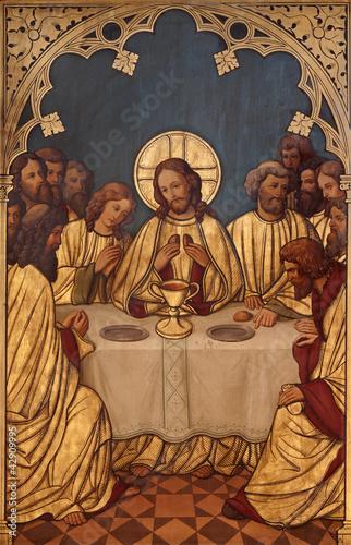 Fotografia BRUSSELS - Last super of Christ -Saint Antoine