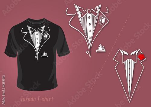 Wallpaper Mural Tuxedo t-shirt vector design
