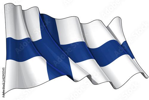 Valokuvatapetti Flag of Finland