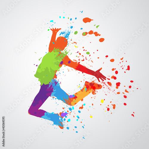 dancing boy silhouette #43064595