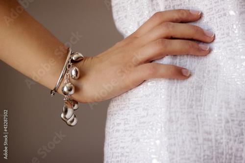 Stampa su Tela Bracelet jewelry on woman's arm