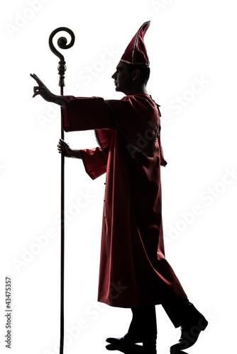 Wallpaper Mural man cardinal bishop silhouette saluting blessing