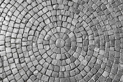 Fotografía Texture of cobblestone in old town.