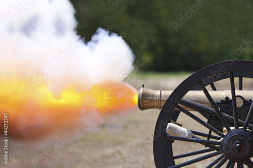 Fototapeta Civil War Cannon Firing