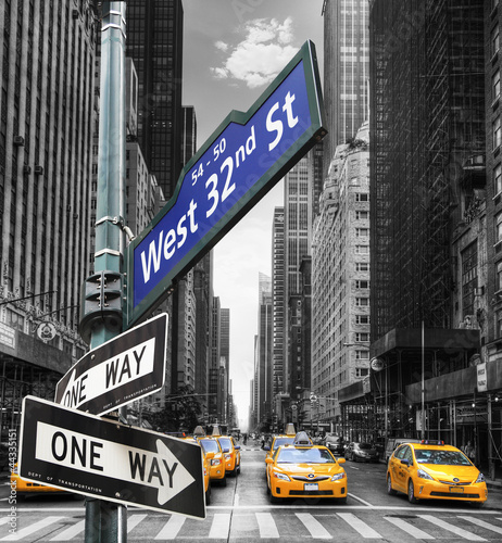 Naklejki na meble Taksówki w Nowym Jorku