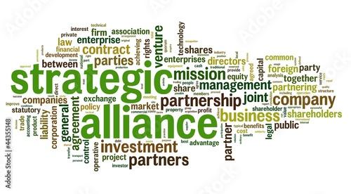 Strategic alliance concept in tag cloud #44355148