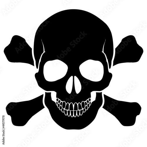 Tableau sur Toile Skull and bones